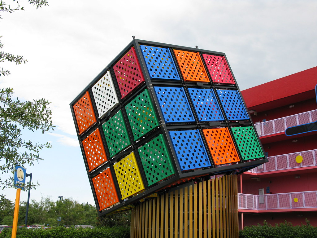 pop century rubik 39 s cube there 39 s also a giant big wheel. Black Bedroom Furniture Sets. Home Design Ideas