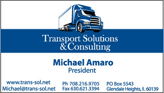 Transport Solutions Business Card Business Card I