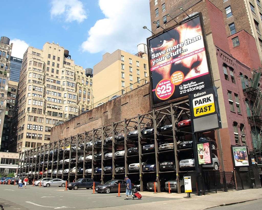 Elevator style parking garage midtown manhattan nyc flickr for Parking garages new york city