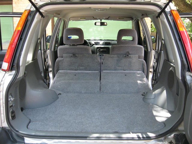 1997 Honda CR V Cargo Area w Folded Seats