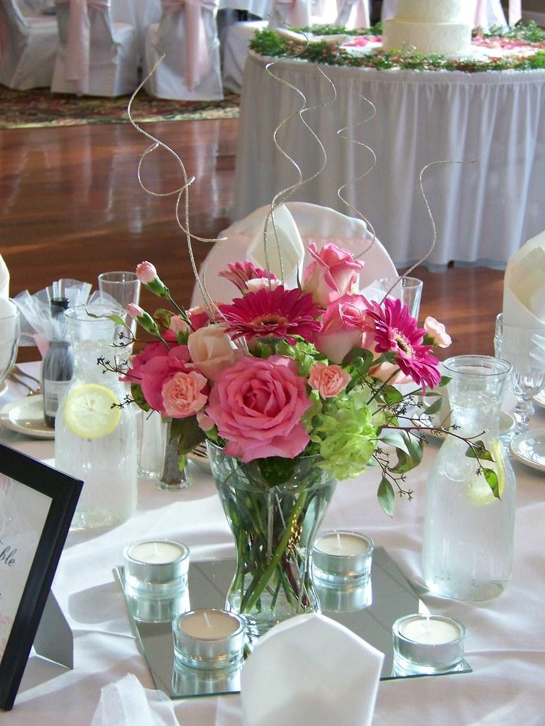 Centerpiece in glass vase at dinolfo s homer glen il