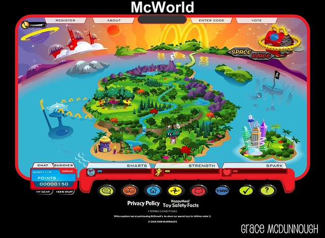 The Happy Meal site also has a lot of fun things to do including playing games like Pinguins, Seashell Fling, Great Space Rescue and Goat's Basket. While there, .