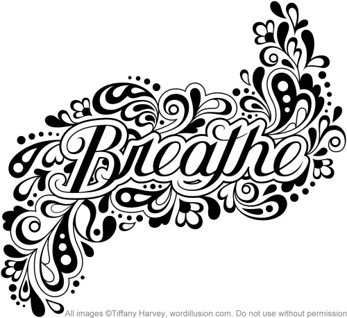 """Breathe"" Tattoo Design"