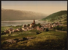 Vossevangen, general view [Lake Vangsvatnet, Norway] (LOC) | by The Library of Congress