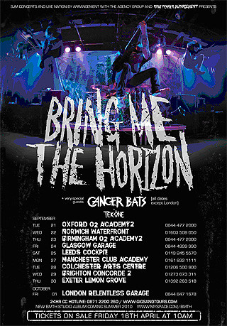 bring me the horizon tour poster paul flickr. Black Bedroom Furniture Sets. Home Design Ideas