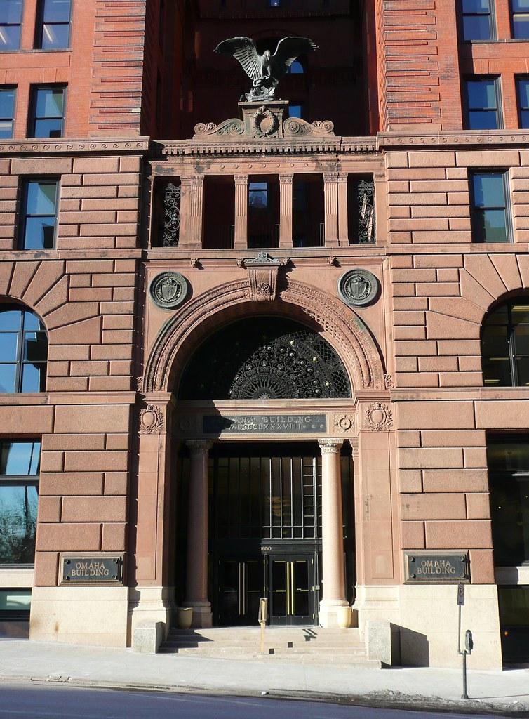 Omaha ne omaha national bank building entrance on the for Architecture firms omaha ne