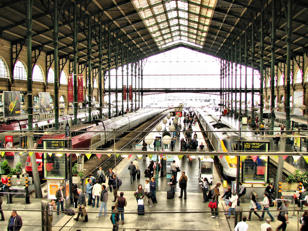 gare du nord the famous train station in paris gare du no flickr. Black Bedroom Furniture Sets. Home Design Ideas