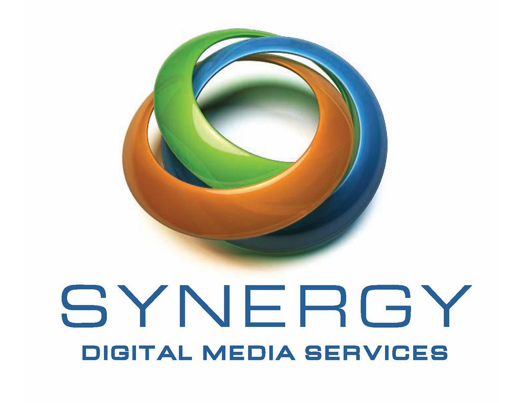 synergy digital media logo logo design for synergy