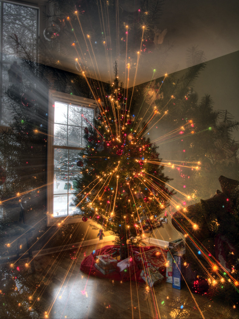 Christmas Tree Trippy Lights HDR | Ben Kennedy Images | Flickr