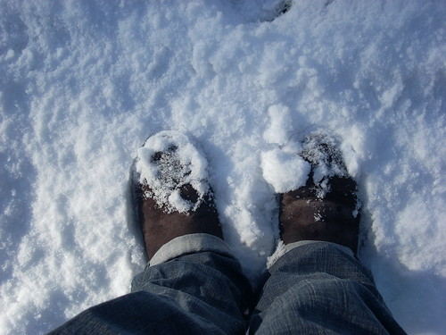 Snow on Uggs, April 2008 | by What's a widget?