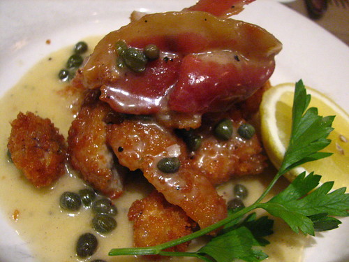 Prune, NYC: Fried Sweetbreads with Bacon and Capers | by SeppySills