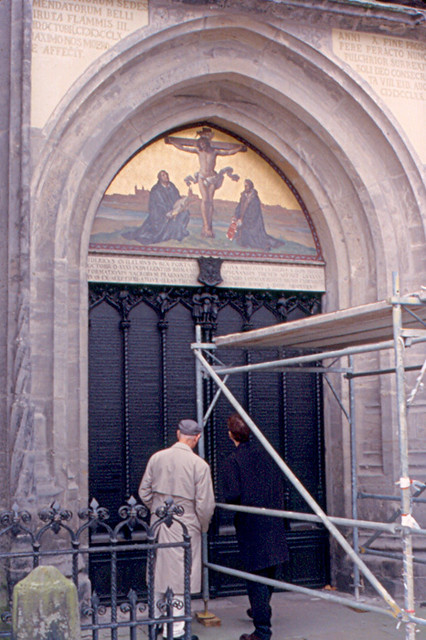 ... Wittenberg - 95 Theses | by roger4336 & Wittenberg - 95 Theses | Here is the door where Martin Luthe\u2026 | Flickr