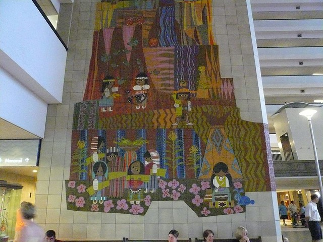 Contemporary resort mosaic mural flickr photo sharing for Contemporary resort mural