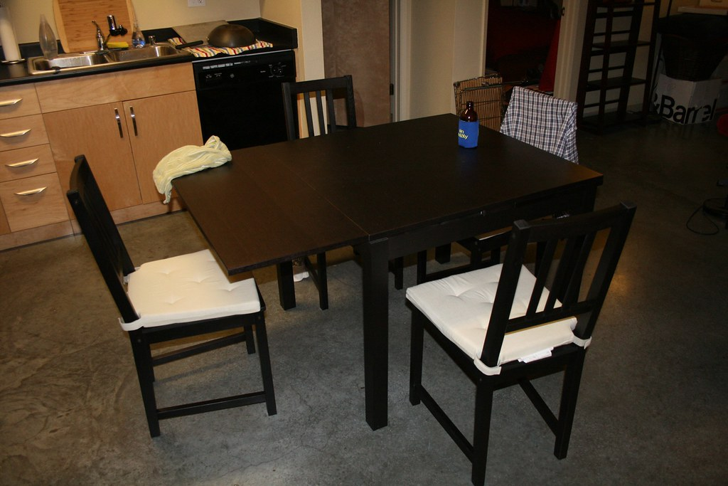 bjursta ikea dining room table now that was fun to put to flickr. Black Bedroom Furniture Sets. Home Design Ideas