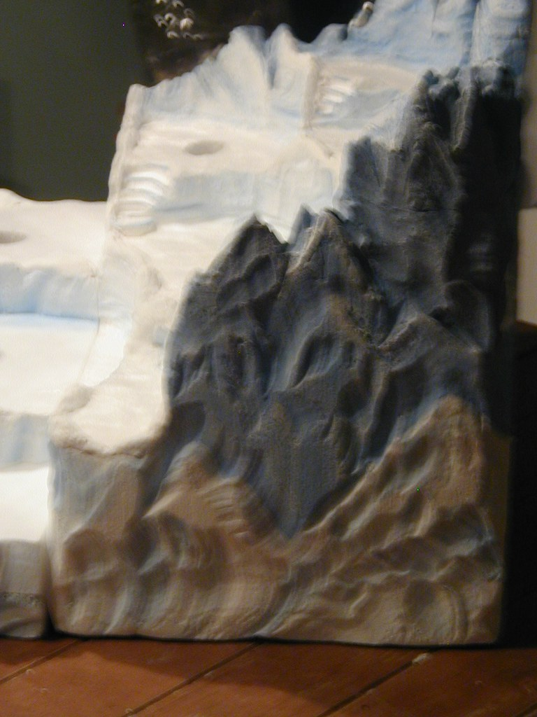 Sculpted north pole mountain this is a side view of the