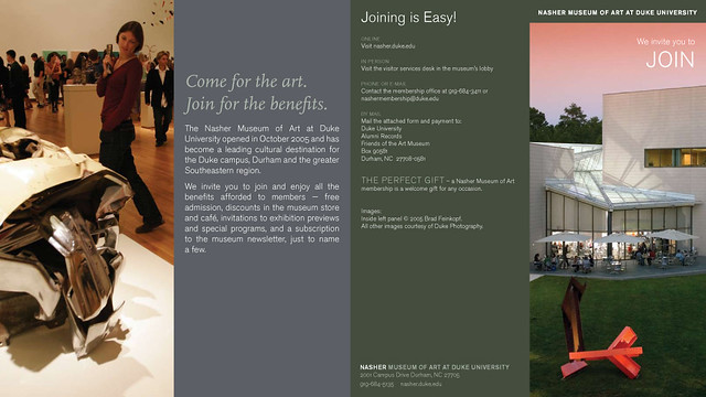 nasher museum at duke university invitation to join brochu flickr. Black Bedroom Furniture Sets. Home Design Ideas