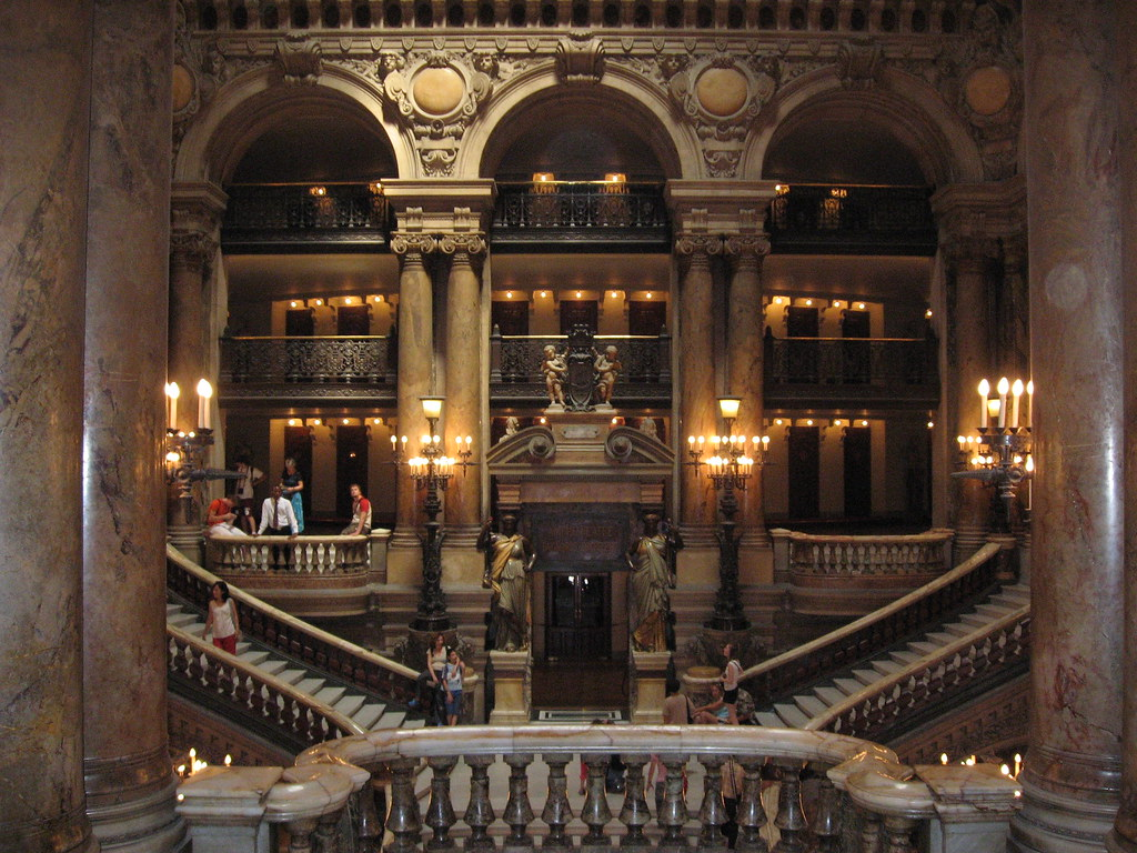 Old Mansion Foyer : Paris opera house foyer and there s even a haunted lake
