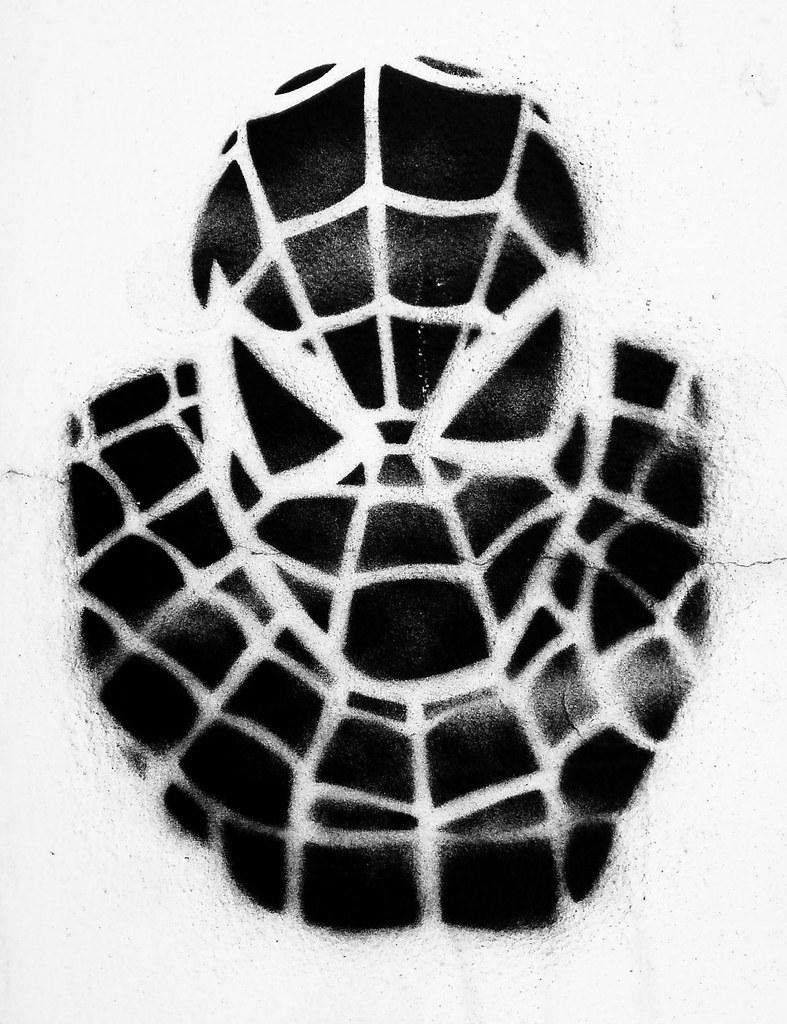 spiderman very slick stencil found in a friendly neighbour u2026 flickr
