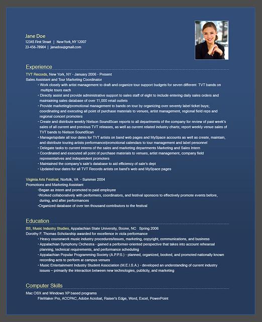 Sample Resume and Portfolio Websites - OPResume com