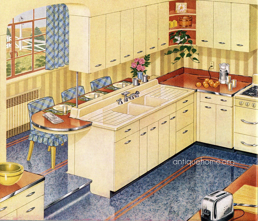 Vintage Kitchen Photography: 1940's Kitchen::1948 Standard Plumbing Catalog