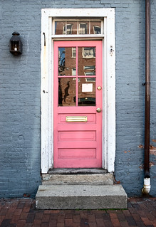 pink door, Lucia's European Lingerie, 332 Fore Street, Old Port, Portland, Maine | by lumierefl