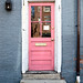pink door, Lucia's European Lingerie, 332 Fore Street, Old Port, Portland, Maine