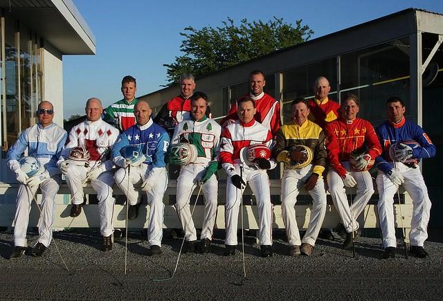 Harness Drivers At Yonkers Raceway NY Top Row Jordan
