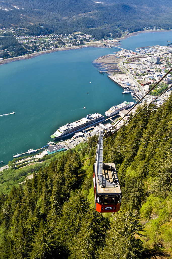 Tram over juneau mt roberts tramway over juneau alaska for How much does a hillside tram cost