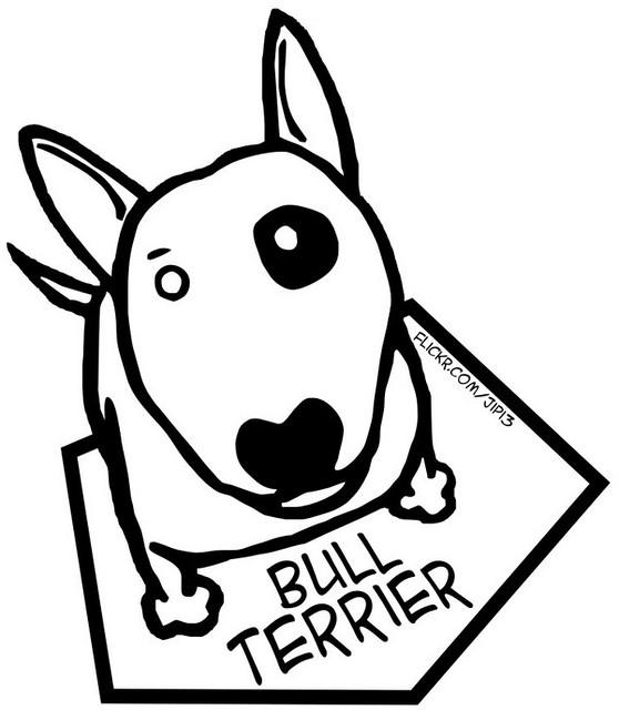 Bull Terrier Imagen En Vectores Corel Draw X4 Esteban Duarte Flickr