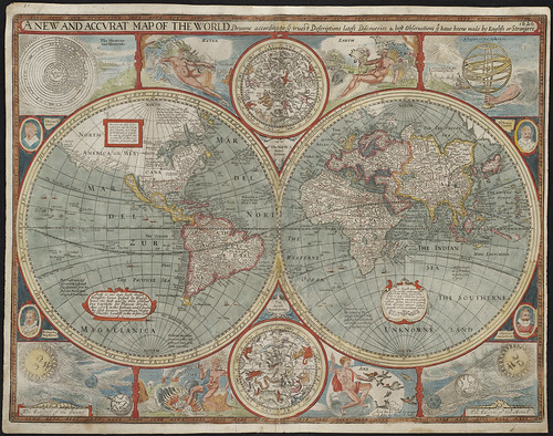 A new and accurat map of the world | by Norman B. Leventhal Map Center at the BPL