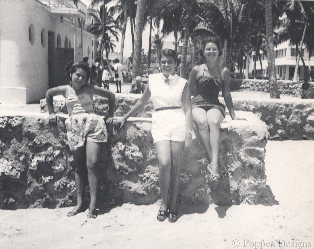 Women In Miami Beach 1950S  Evidently Not Much Has Changed   Flickr-5858