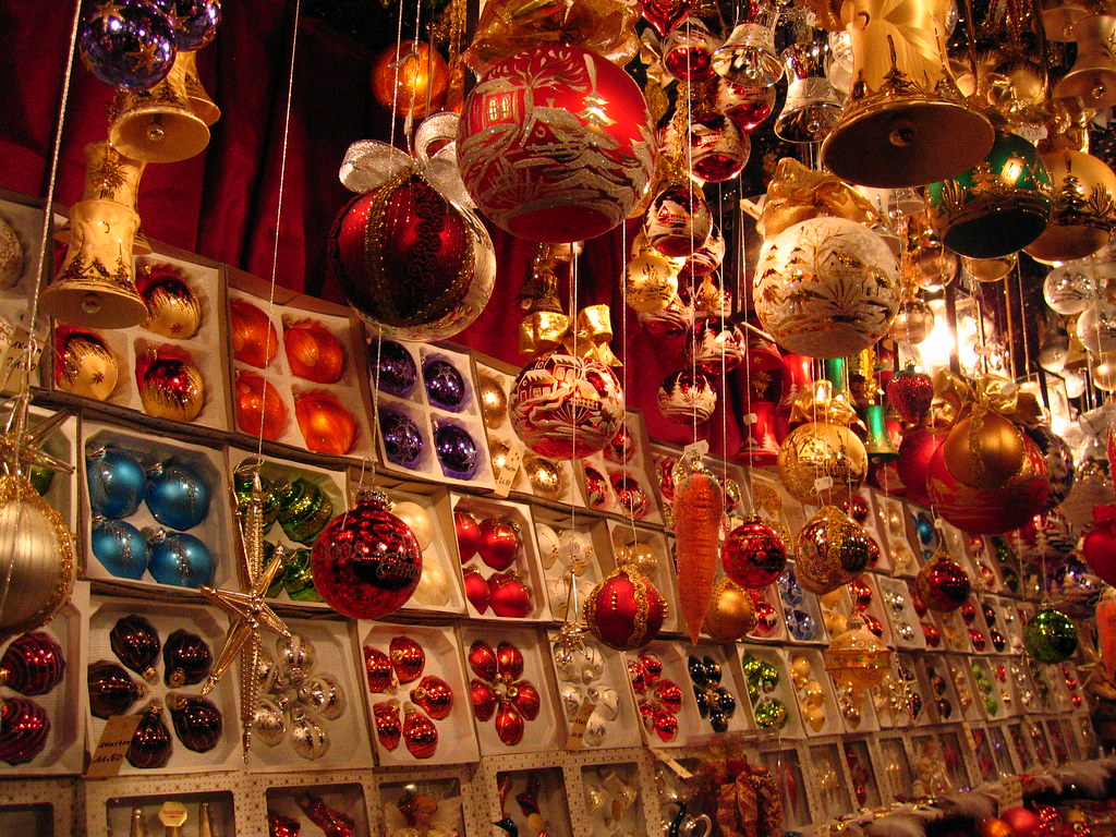 Decorations In Germany During Christmas : Baubles nuremberg christmas market charley flickr