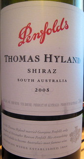 Penfolds 2005 Thomas Hyland Shiraz (front) | by 2 Guys Uncorked