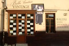 Vintage shop facade
