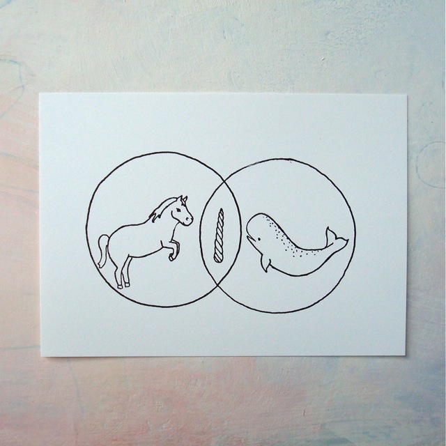 Unicorn And Narwhal Venn Diagram V2 I Painted A Big Canvas Flickr