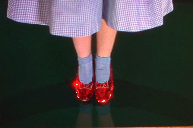 The Wizard Of Oz 1939 Dorothy Taps Her Heels Together