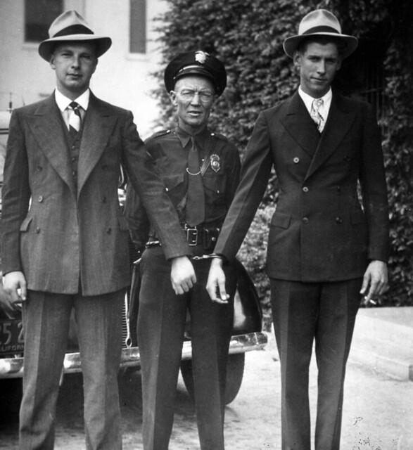 Fullerton Patrolman Ernest E Garner With Bank Robbers Fu