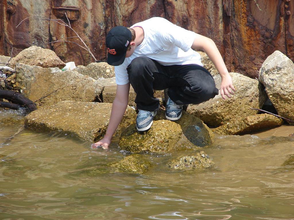 Algal bloom hilton fishing pier newport news va flickr for James river fishing report