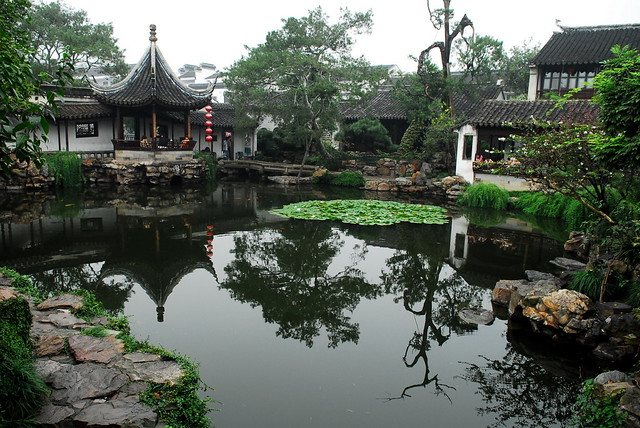 Ancient Chinese garden ReflectionWangshi Garden M