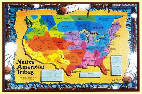 USA ~ Native American Tribes Map | JustMeSKJ ~ Postcards | Flickr