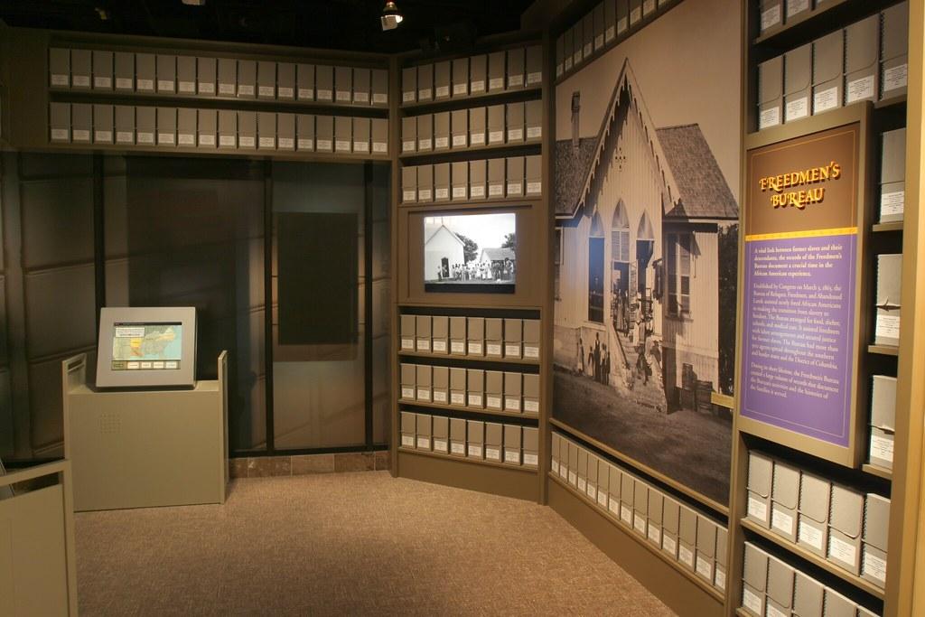 Freedmen s bureau project installed in the public vault for Bureau records