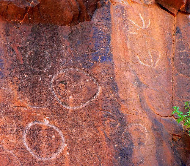 Sacred canyon aboriginal rock carvings flickr photo