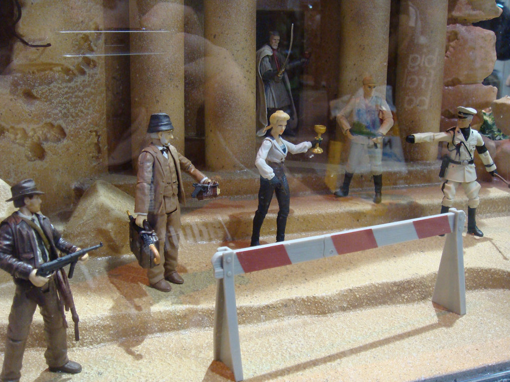 A Diorama Of The New Indiana Jones Action Figures From Has