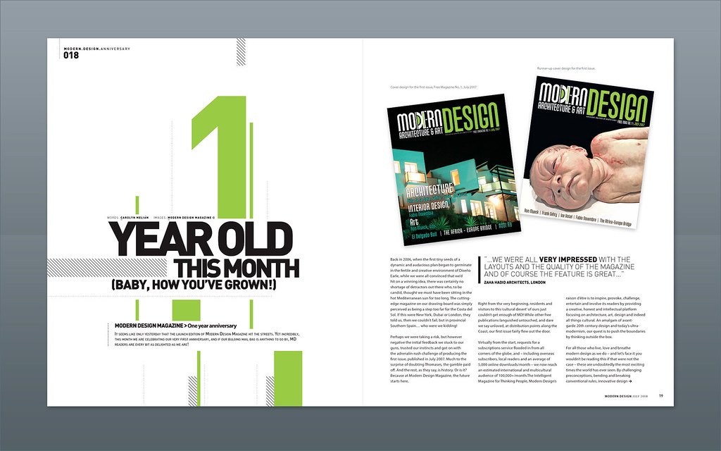 Modern design magazine 1 year anniversary magazine for Designs magazine