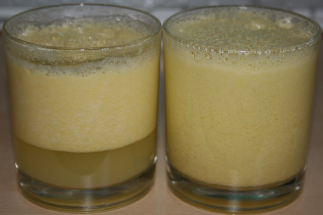 Yellow tomato juice
