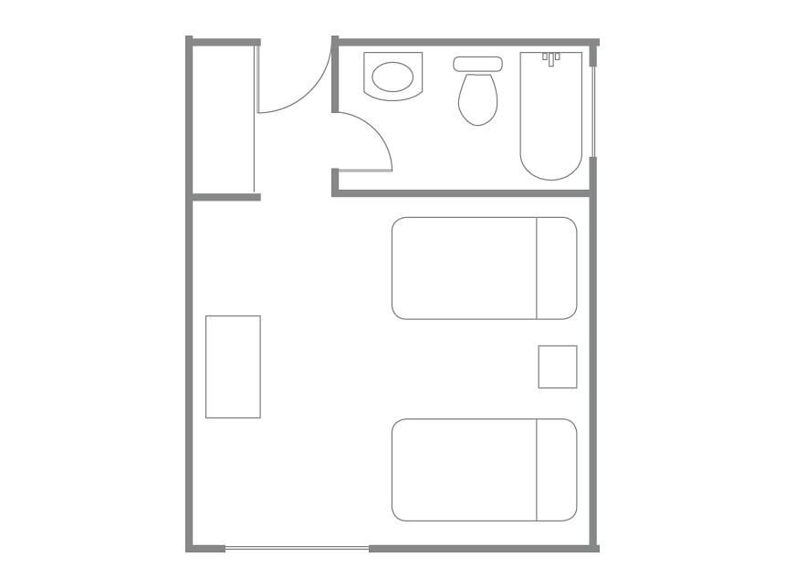 Plano de referencia habitaci n est ndar lenga plano for Plano habitacion