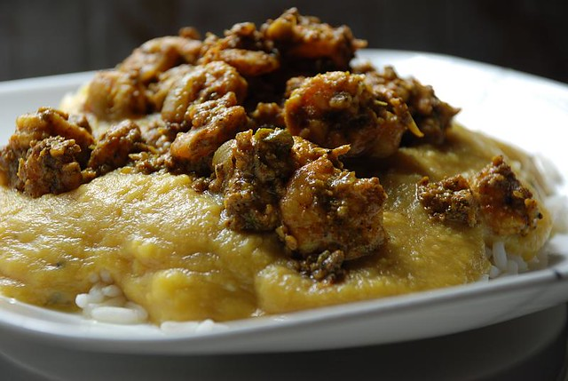 Rice, Dhal and Curry Shrimp | My mother's cooking, my ...
