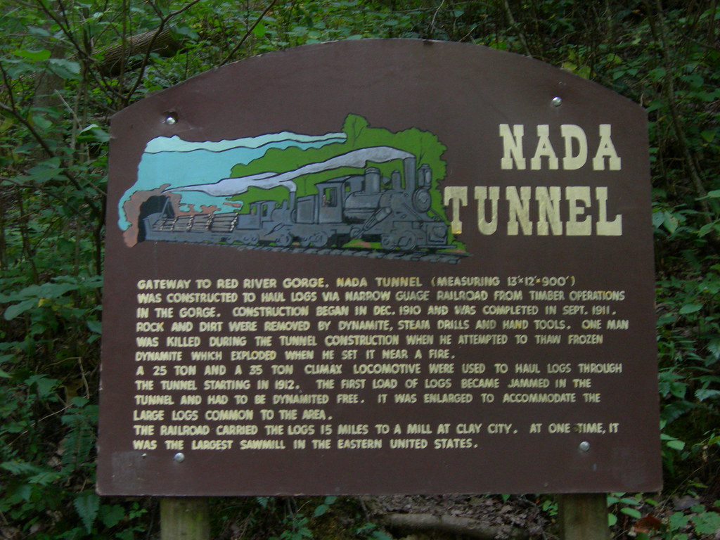 Nada Tunnel Marker On Ky 77 In Southern Powell County