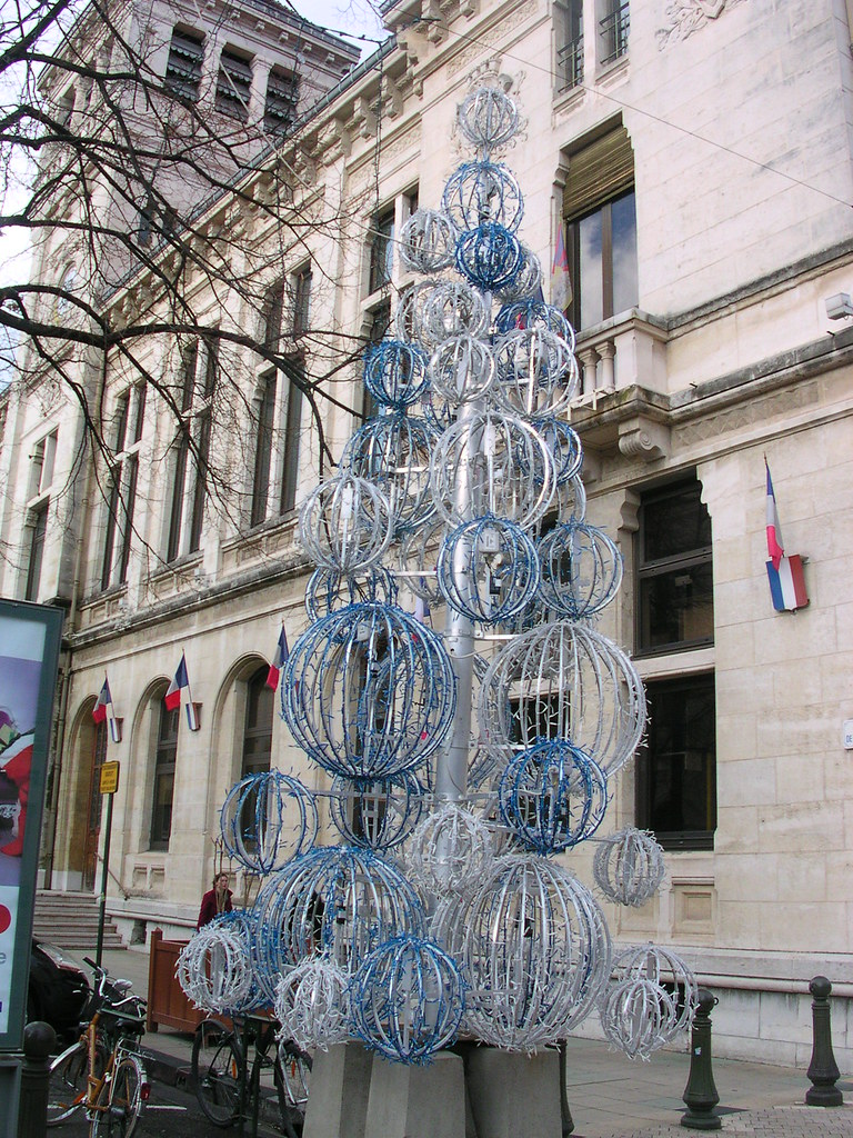 Arbre De Noel Decoration Violete