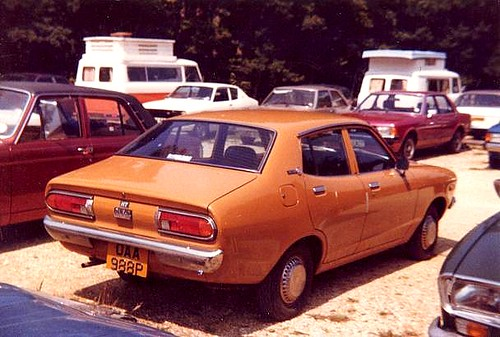 Datsun Sunny 120Y 1975 | I took this photo in 1980 in ...